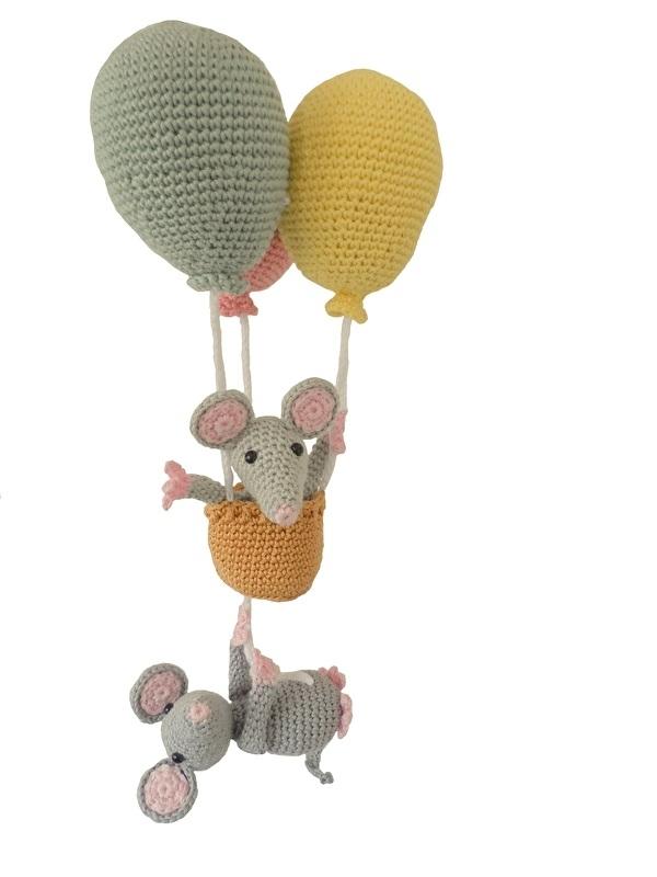 Ballon met muizen haakpakket