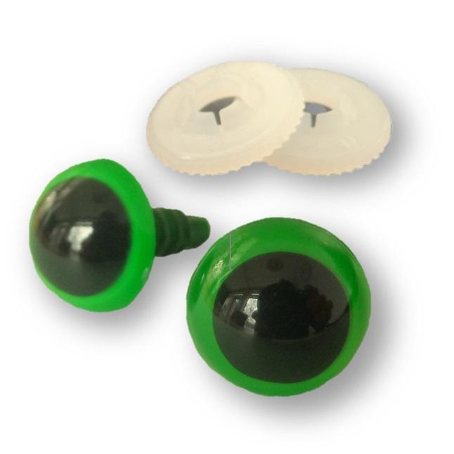 Veiligheidsogen groen 12 mm
