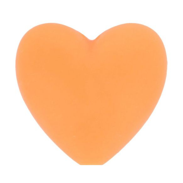 Siliconen kraal hartje nr. 704 oranje