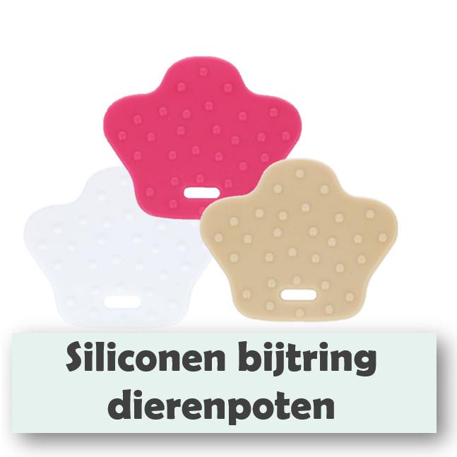 Siliconen bijtring dierenpoten