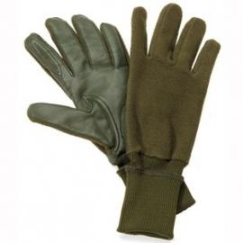 Akah fleece handschoenen met leren binnenhand