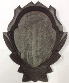 Geweischild 16x12 cm - met kaakvak