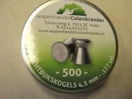 Kogels 500 stuks aanbieding Wapenhandel Colenbrander 4.5 mm