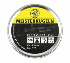 RWS Meisterkugeln  500 stuks 4.5 mm
