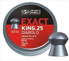 JSB  Exact King .25 Diabolo   6.35mm / 350 stuks