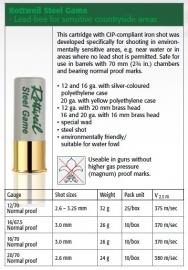 Rottweil Steel 32 gram kaliber 12 voor wapens tot 740 bar