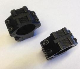 Montage medium 1 inch 9-11 mm met weaver opbouw