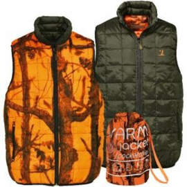 Percussion omkeerbare bodywarmer