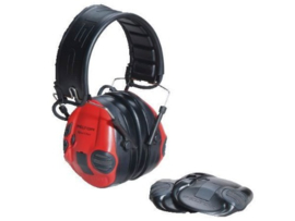 Peltor SportTac gehoorbeschermers in rood/zwart