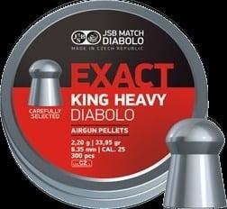 JSB Exact King Heavy .25 - 2,2 gram   6.35 mm  /  300 stuks
