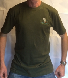 T-Shirt met wildmotief eend of houtsnip; alleen nog in maat 4XL!