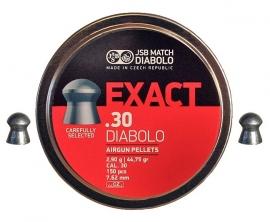 JSB  Exact  .30  Diabolo  7.62 mm- 2,90 gr.  /  150 stuks