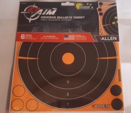 Allen Adhesive Bullseye Target -  schietkaarten 20,3 cm