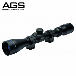 AGS Cobalt Redi-Mount  Scope 3-9x40 met match mounts 1/2 mil-dot
