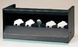 Kogelvanger / schietkast  'wild zwijn' / wild boar