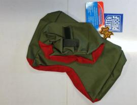 Geweersteun / Rifle rest / Zandzak tweedelig in groen-rood