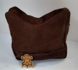 Geweersteun / Rifle rest / Zandzak  leer - suede bruin