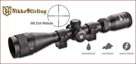 Nikko Stirling MountMaster 3-9x40 AO inclusief montage!