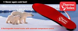 Thermo Soles, nooit meer koude voeten met ingebouwde accu!