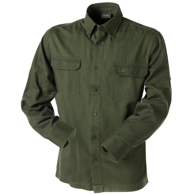 Shirt Greenlands Groen lange mouw;  alleen nog  2XL
