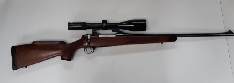 BSA 7x64 mm met Kahles 3-12x56 op zwenkmontage