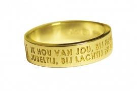 Gouden ring met zeegedicht van Challa