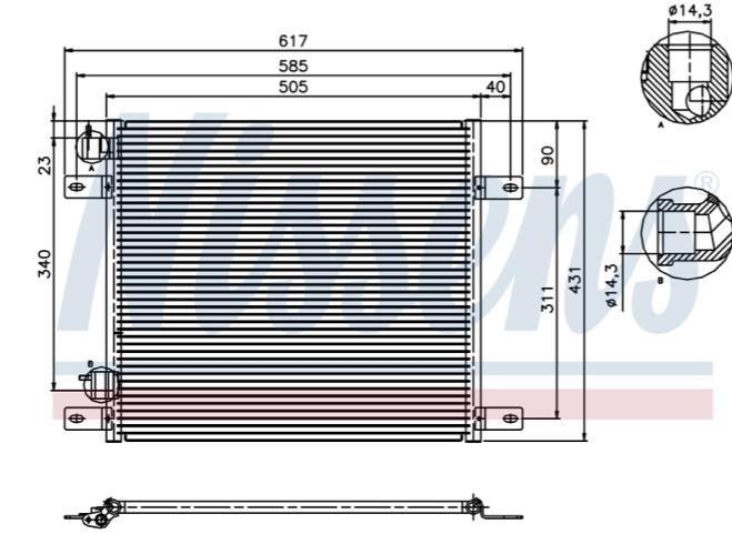 DAF CF85 Condensor