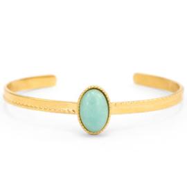 Amazoniet Gold-Turquoise