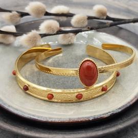Jasper Gold-Red