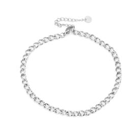 Enkelbandje Chain (3) Zilver
