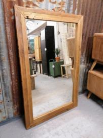 Spiegel erosie teak 140x90 cm