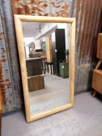 Spiegel teakhout 140x80 cm