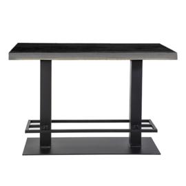 Countertafel 140x80 cm zwart