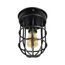 Plafondlamp Barn vintage Black