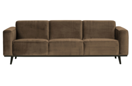 Bank 3-zits Statement 230 cm fluweel taupe