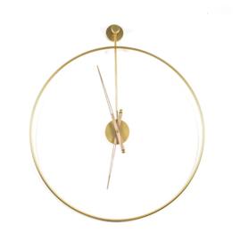 Wandklok Sundial large goud