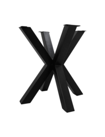 Onderstel Oakland - 3D-Model - 70x70 cm - gepoedercoat zwart ijzer