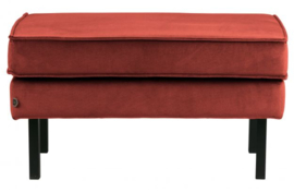 Hocker Rodeo op poten velvet chestnut