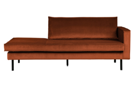 Daybed Rodeo right velvet roest