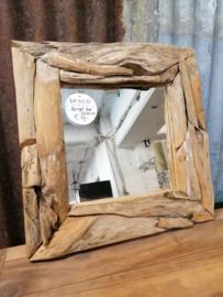 Spiegel root 50x50 cm