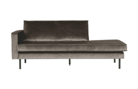 Daybed Rodeo left velvet taupe
