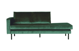 Daybed Rodeo left velvet bosgroen