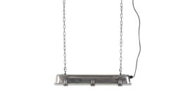 Hanglamp industrieel 70x14x10 cm, nikkel