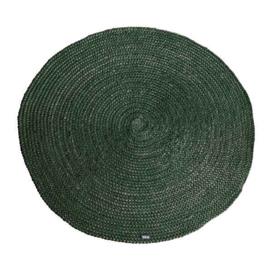 Carpet Jute rond 220x220 cm groen