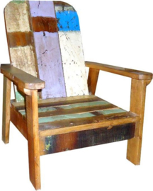 Kinder loungestoel, gerecycled hout