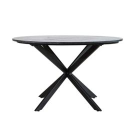 Eettafel Remy 130x78 zwart marmer