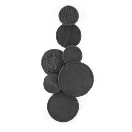 Round & round - zwart
