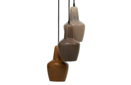 Hanglamp Pottery , 3 lamps multicolor