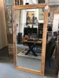 Spiegel erosie teak 200x100 cm