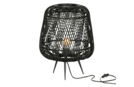 Tafellamp Moza bamboe zwart